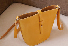 Handmade vintage busket rustic leather crossbody Shoulder Bag for girl women lady