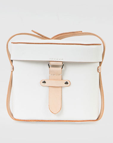 Handmade Leather bucket cute doctor bag purse shoulder bag small white phone crossbody bag