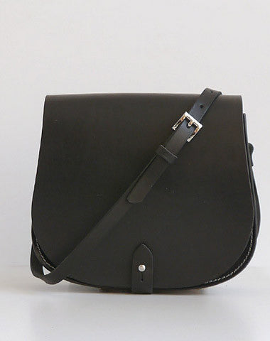 Handmade Leather crossbody bag shoulder bag small black for women leather shoulder purse