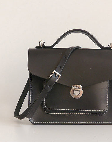 Handmade Womens Leather shoulder bags Satchel Bag School Bag for women