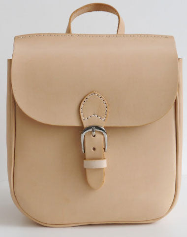 Handmade Leather backpack beige bag purse shoulder bag phone satchel bag