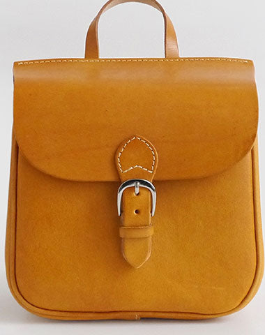 Handmade Leather backpack Tan bag purse shoulder bag phone satchel bag