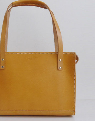 Handmade Leather handbag shoulder bag yellow for women leather shoulder bag