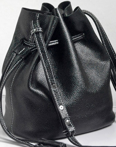 Handmade Leather bucket bag shoulder bag for women leather crossbody bag