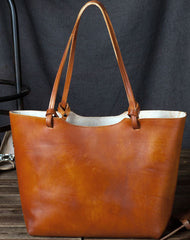 Handmade Vintage Leather Tote Bag Purse for Women Brown Tote Bag