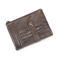 Brown Leather Billfold Wallet for Men Bifold Wallet Brown Leather Small Wallet For Men
