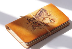 Handmade leather handpainted notebook/travel book/diary/journal