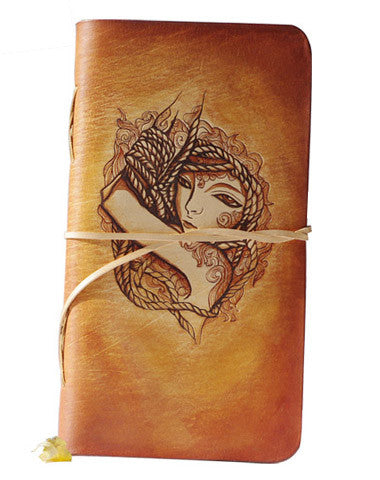 Handmade vintage leather notebook leather journal leather book