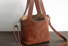 Handmade Leather Small tote bag shopper bag busket for women leather shoulder bag