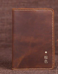 Mens Slim Leather Passport Wallet Bifold Long Passport Wallet Travel Wallet For Men