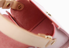 lovely Handmade Leather Womens Mini Purse Makeup Handbags Shoulder Bags for Women