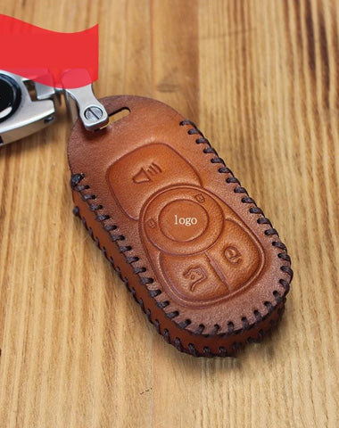 Handmade Brown Leather BUICK ENVISION Mens Car Key Case ENVISION Car Key Holder