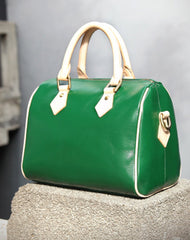 Fashion Womens Leather Small Boston Handbag Best Womens Leather Boston Purse Side Bag