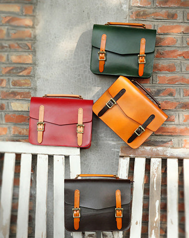 Womens Handmade Leather Satchel Handbags Cambridge Structured Satchel Shoulder Purse