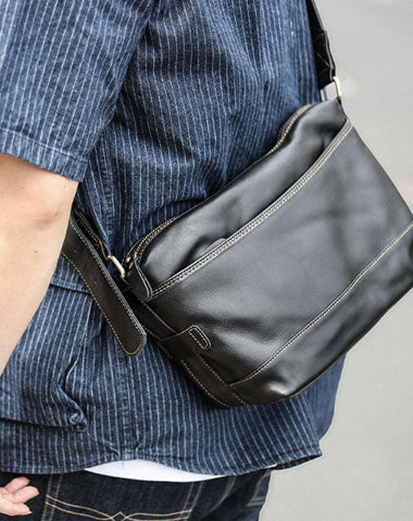 "Black Leather Mens Casual 10"" Courier Bags Messenger Bag Coffee Brown Postman Bag For Men"