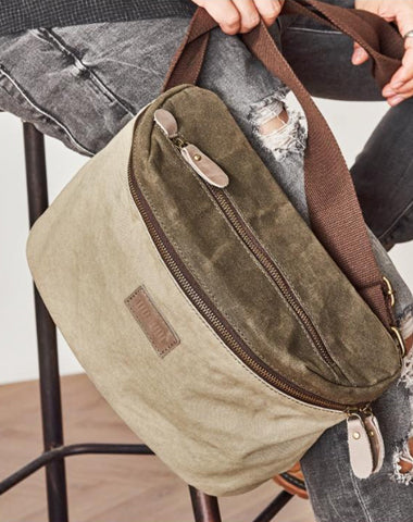 Canvas Mens Messenger Bag Canvas Side Bag Saddle Canvas Courier Bag for Men