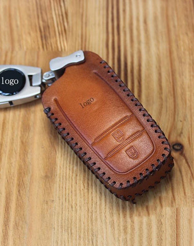 Handmade Brown Leather TOYOTA Highlander Mens Car Key Case TOYOTA Car Key Holder