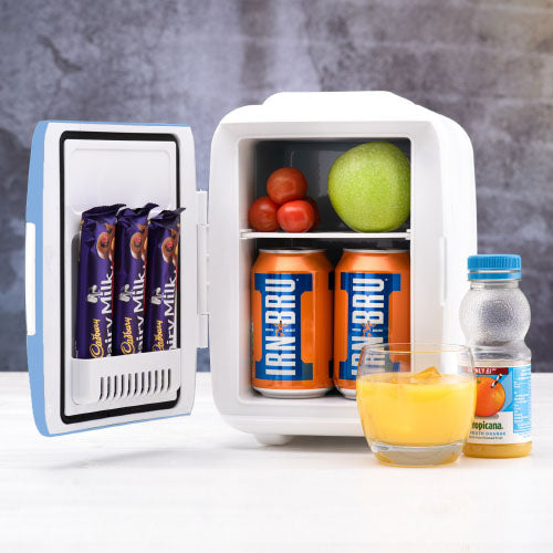 4L snacks and drinks fridge in colour blue