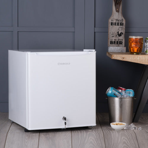 50L table top white mini fridge