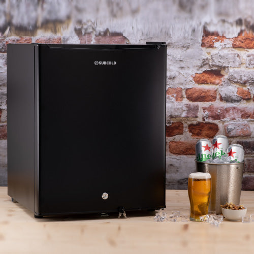 75L table top black mini fridge