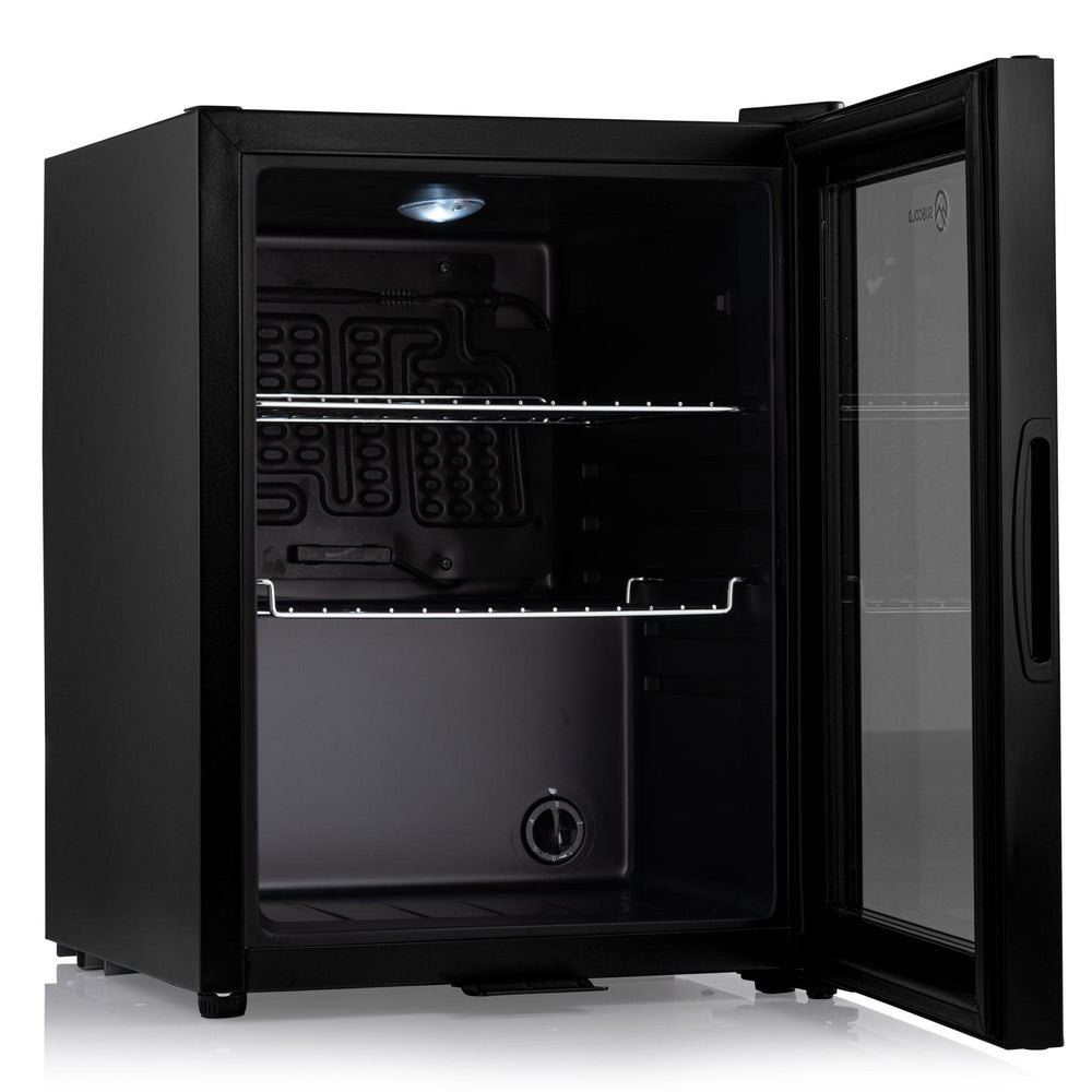Subcold Super 35 litre beer drinks fridge black interior