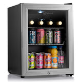 Subcold Super 35 litre beer drinks glass door fridge silver led inside