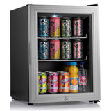 Subcold Super 35 litre beer drinks glass door fridge silver
