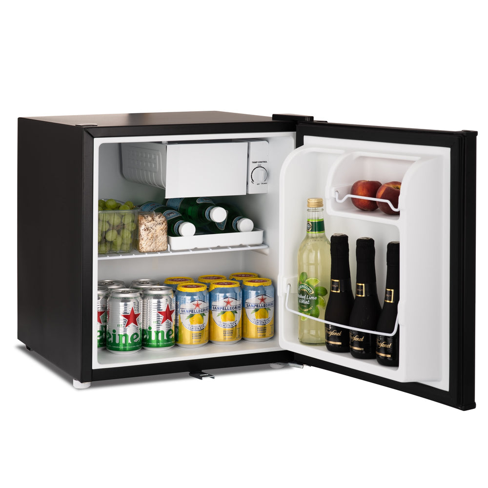 Subcold Eco 50 litre table top fridge with snacks and drinks inside