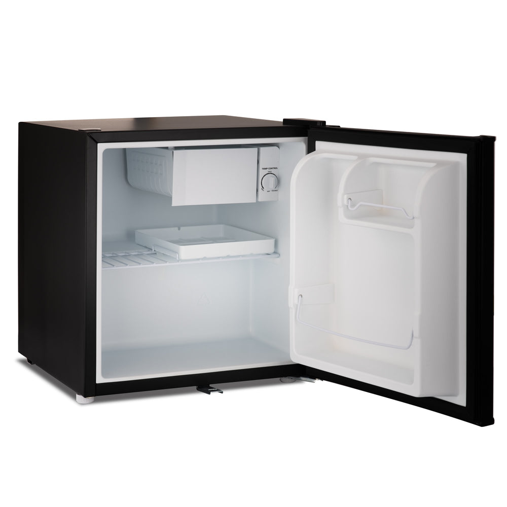 Subcold Eco 50 litre table top fridge black interior with freezer