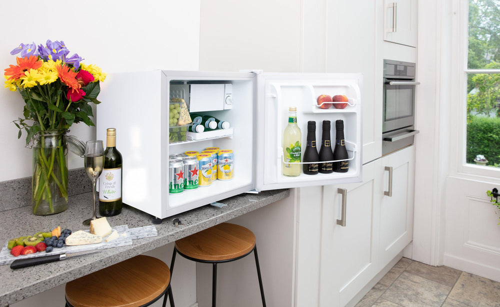 Subcold Eco 50 litre mini fridge on kitchen counter