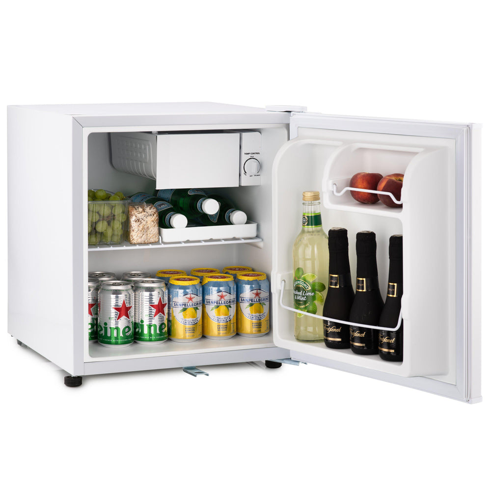 Subcold Eco 50 litre mini fridge with snacks and drinks inside