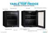 Subcold Super 50 litre table top black beer mini fridge build features infographic
