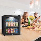 Subcold Super 50 litre table top black beer drinks mini fridge lifestyle