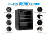 Subcold Super 65 litre table top black beer mini fridge build features infographic