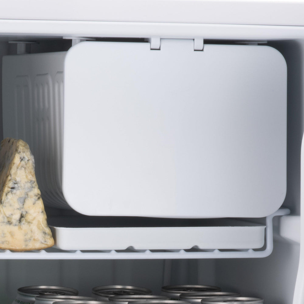 Subcold Eco 75 litre table top fridge white ice box inside