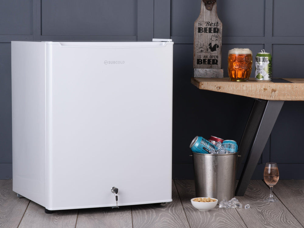 Subcold Eco 75 litre table top fridge white style