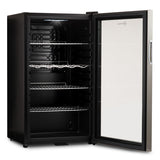 Subcold Super 85 litre glass door beer drinks under counter stainless steel fridge interior