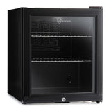 Subcold Super 50 litre black glass door fridge
