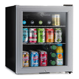 Subcold Super 50 litre glass door beer drinks silver mini fridge