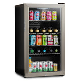 Subcold Super 85 litre glass door beer drinks under counter stainless steel fridge