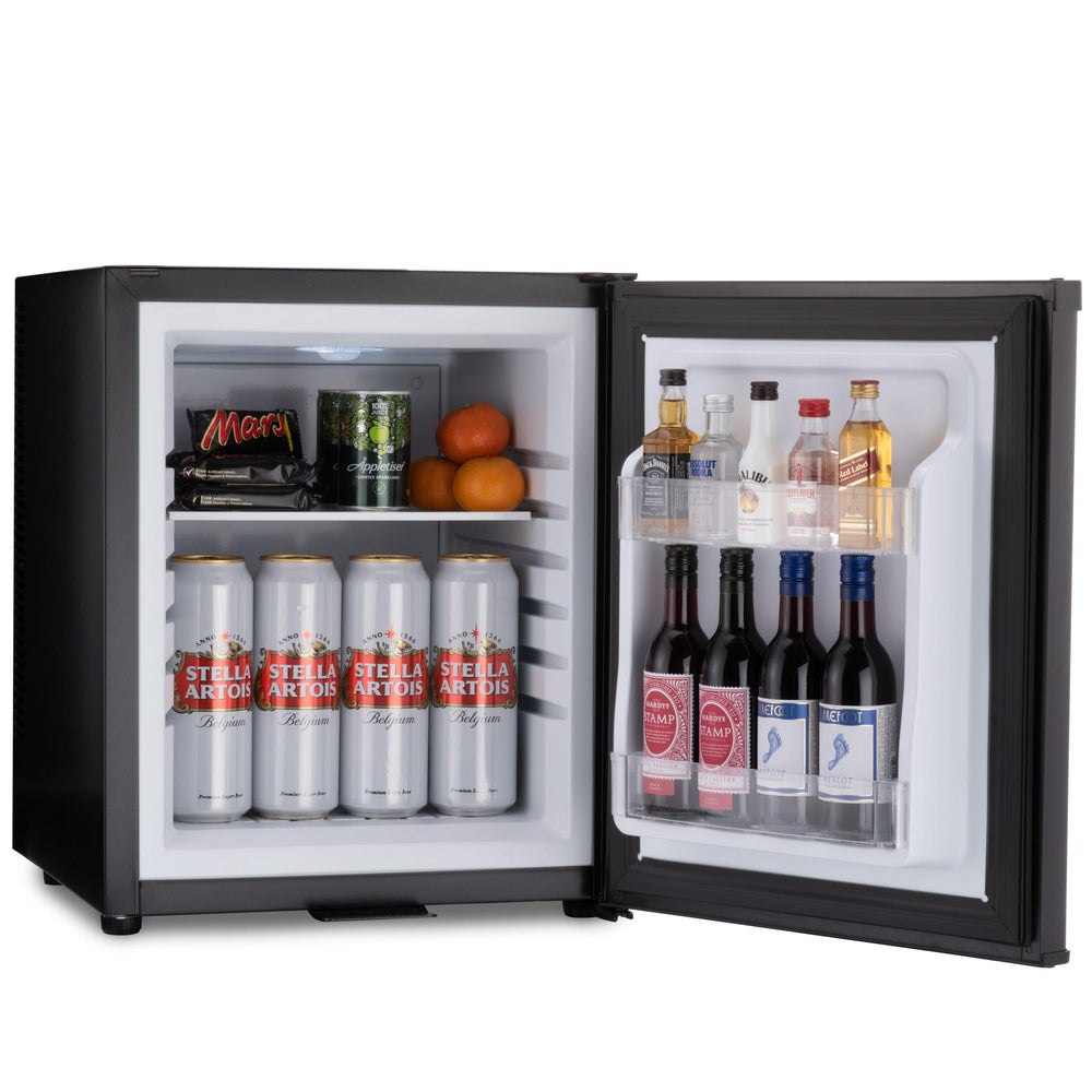 Barcool Bar 30 litre mini bar fridge black storage inside