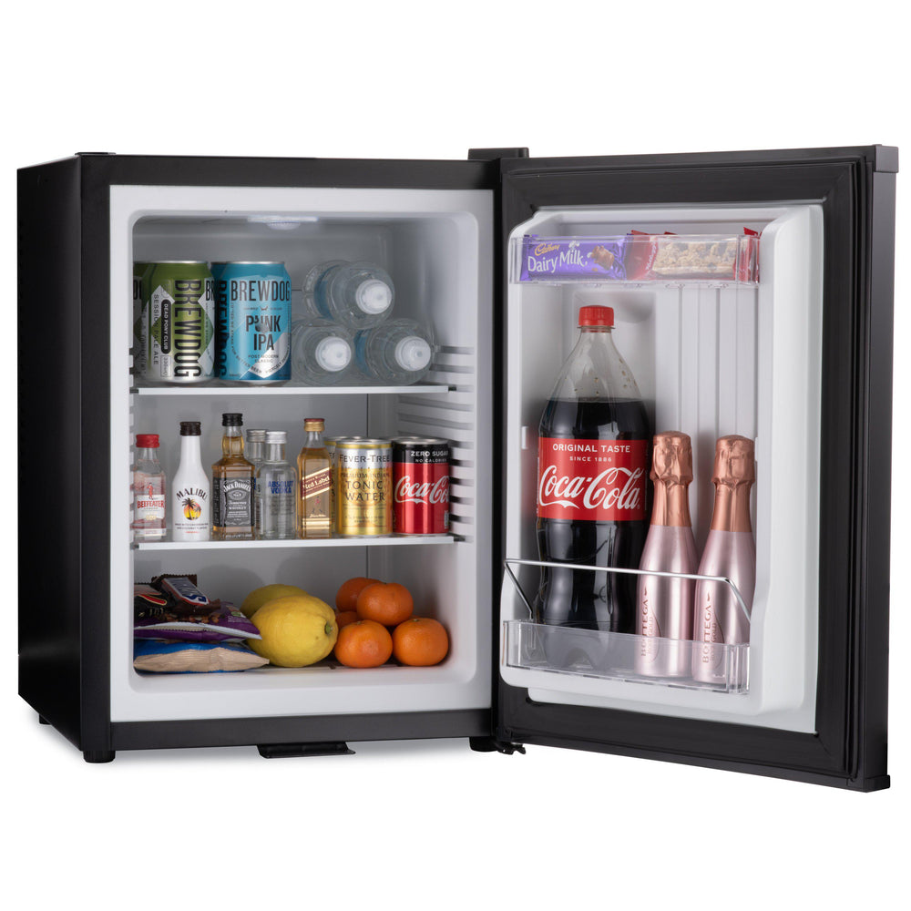 Mini bar fridge 40 litre with snacks and drinks inside