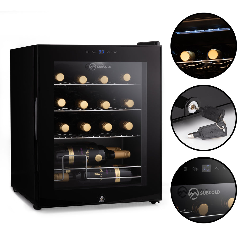 Subcold Viva 16 bottles wine cooler fridge (48 litre) features