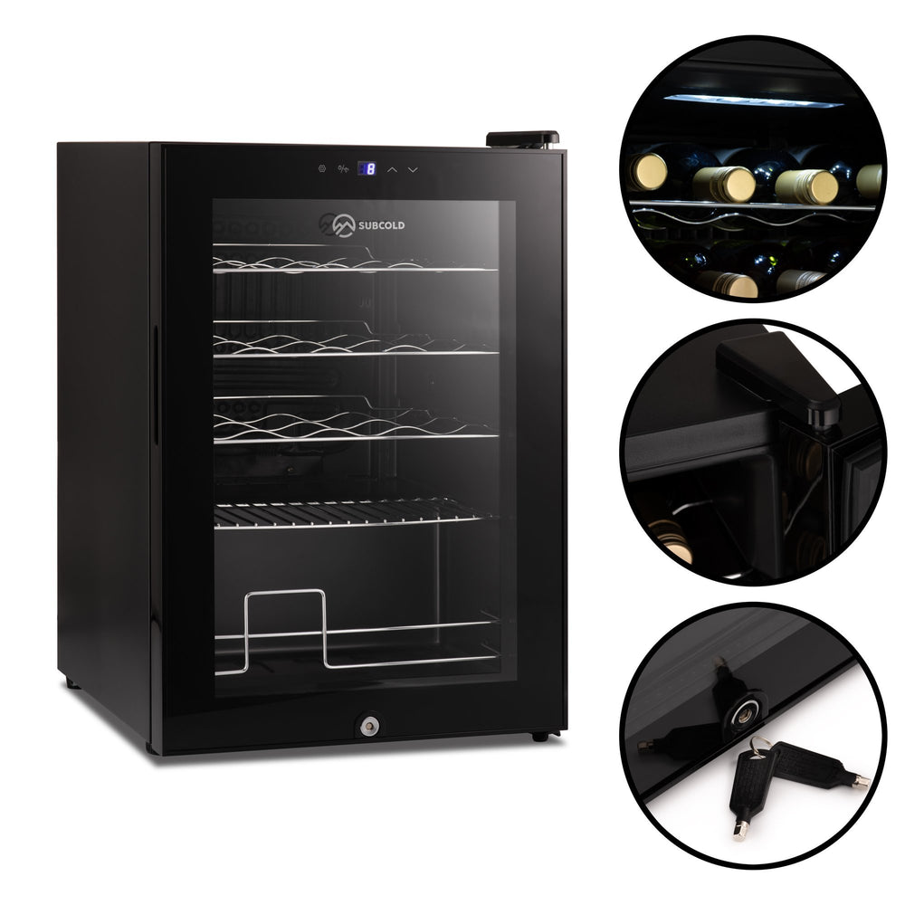 Subcold Viva 20 bottles wine cooler fridge (57 litre) features