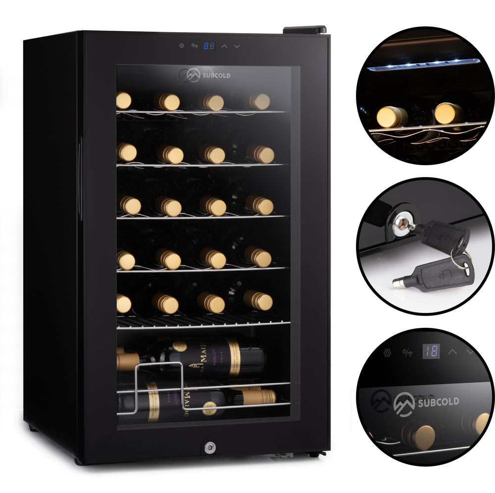 Subcold Viva 24 bottles wine cooler fridge (70 litre) features