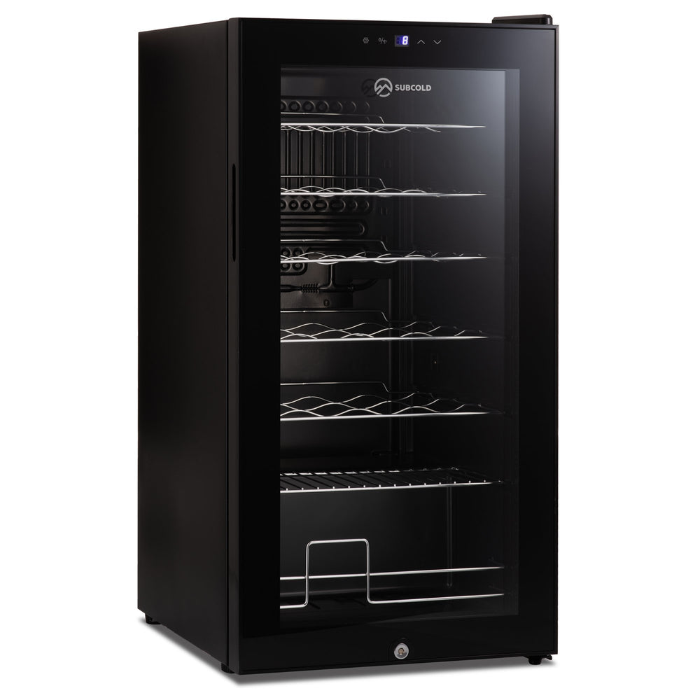 Subcold Viva 28 bottles wine cooler fridge (82 litre) interior