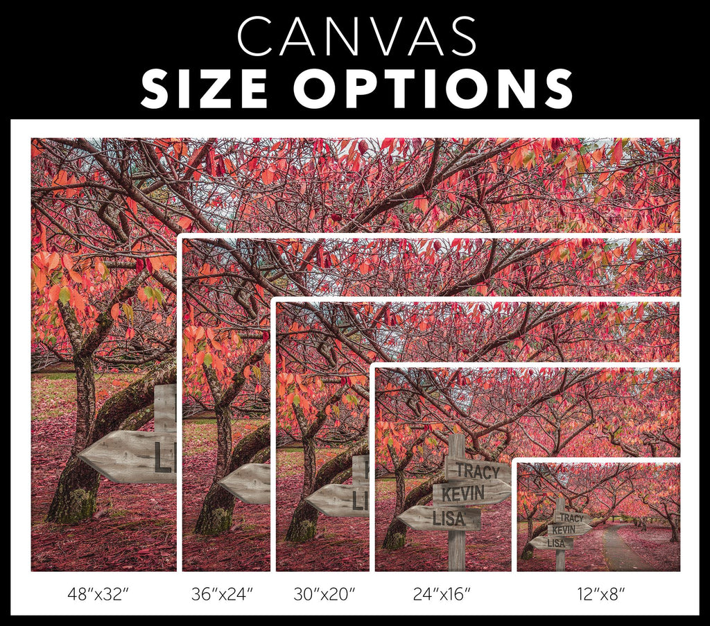 Customized Cherry Trees Canvas Canvas Wall Art 3 teelaunch
