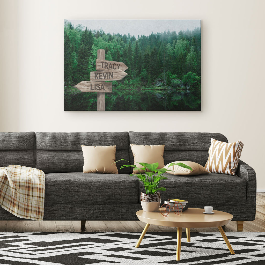 Customized Green Forest Canvas Canvas Wall Art 3 teelaunch