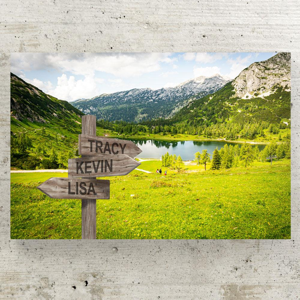 Customized Green Valley Canvas Canvas Wall Art 3 teelaunch