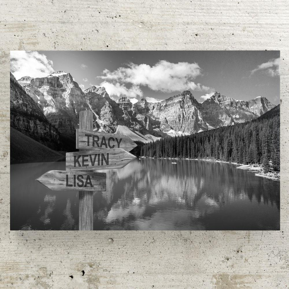 Customized Lake Canvas (Up to 7 names) Canvas Wall Art 3 teelaunch